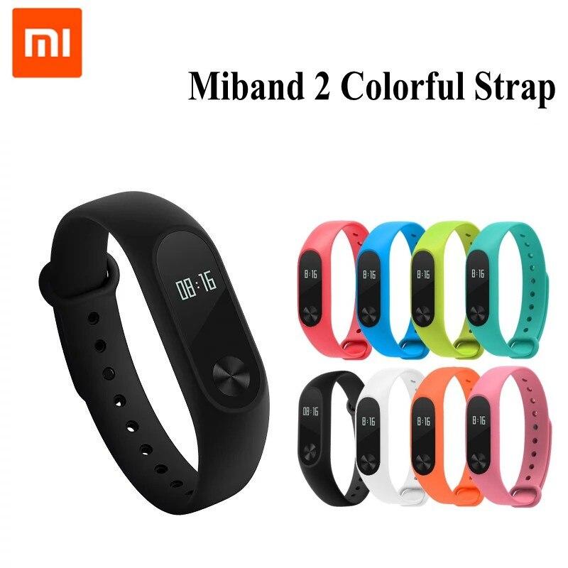 1 unids Xiaomi mi banda 2 de Muñeca de La Correa de Silicona de Colores Banda de pulsera para Mi Banda 2 Pulsera Inteligente para Xiaomi 2