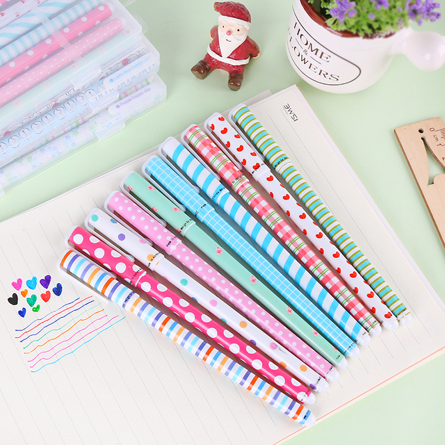 10 PCS/LOT Fresh Style Kawaii Animal Print Gel Pen Promotional Gift  Stationery School Office