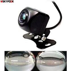600L CCD HD 180 درجة عدسة عين السمكة سيارة كاميرا الخلفية/الجبهة الرؤية زاوية واسعة عكس كاميرا احتياطية للرؤية الليلية وقوف السيارات مساعدة