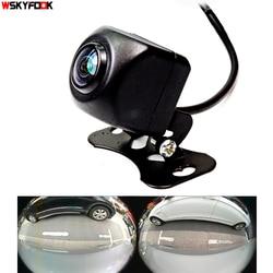 600L CCD HD 180 درجة عدسة عين السمكة سيارة كاميرا الرؤية الخلفية/الأمامية زاوية واسعة عكس كاميرا احتياطية للرؤية الليلية وقوف السيارات مساعدة
