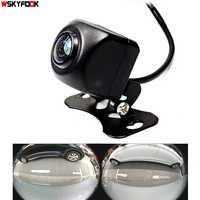 600l ccd hd 180 graus fisheye lente câmera do carro traseira/vista frontal grande angular invertendo câmera de backup visão noturna estacionamento auxiliar