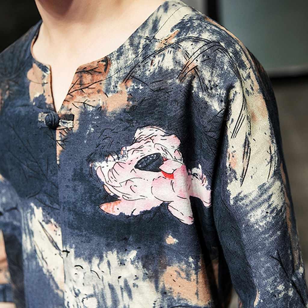 リネン綿新着男性カジュアル男性ハワイシャツ春と夏のファッションのカップル個人プリント半袖ビーチトップス