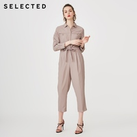 SELECTED Women's Summer Lace up Loose Fit Jumpsuits S|419244504