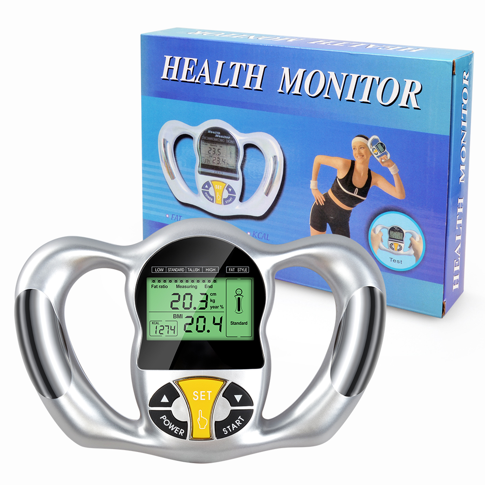 New Electric Body Fat Monitor BMI Tester Health Analyzer Fat Meter Detection Fat Analyzer Calorie Calculator Measure