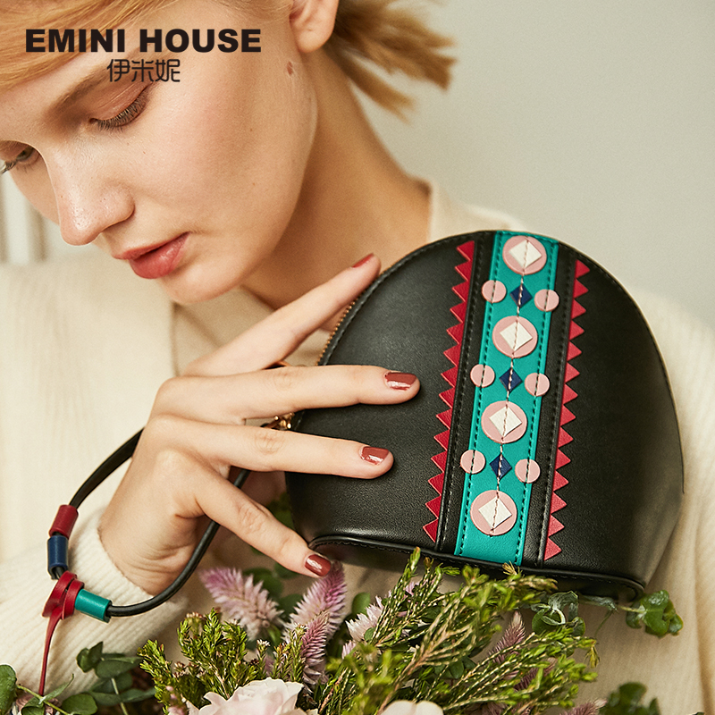 купить EMINI HOUSE Indian Style Shoulder Crossbody Bags For Women Leather Handbags Bags Women Famous Brand Tassel Shell Ladies Hand Bag недорого
