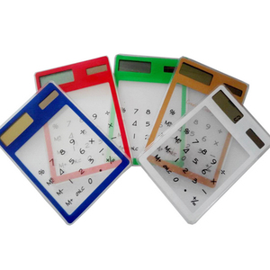 Centechia مفيدة LCD 8 أرقام شاشة تعمل باللمس الترا سليم شفافة الشمسية CalculatorStationery واضح آلة حاسبة علمية مكتب