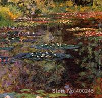 Gift wall art famous Painting Water Lilies by Claude Monet reproduction High Quality Hand painted
