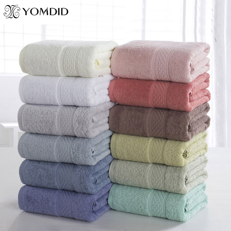 Bath-Towel Thick 100%Cotton Antibacterial Adults 17-Colors Solid for Fast-Drying Soft