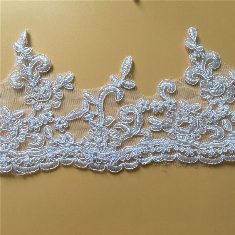 9Yards Vezen Til Čisto Beli Off Beli čipke Trim Preja Cela obleka - Umetnost, obrt in šivanje - Fotografija 6