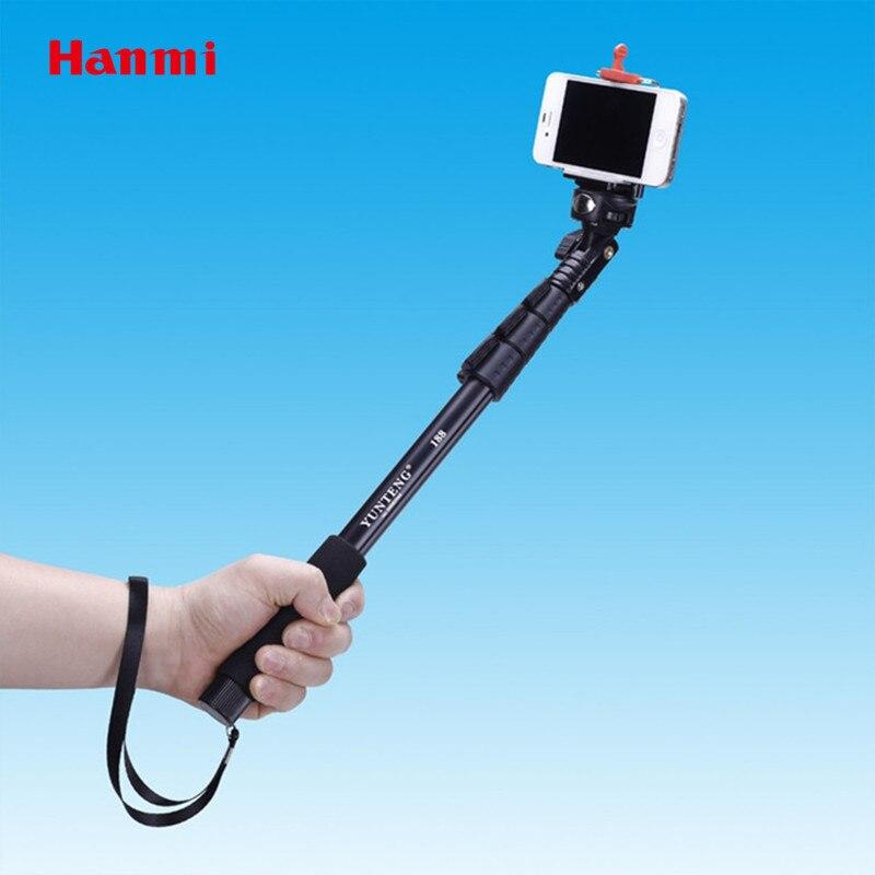 Vente chaude Auto Bâton Yun Teng C-188 Selfie Bâton Pour Gopro Manfrotto Trépied + Support de Téléphone Trépieds Mobile Téléphone Manfrotto livraison Gratuite
