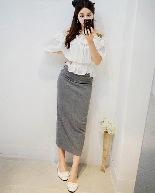 Aliexpress.com : Buy New Cotton ankle length pencil long skirt ...