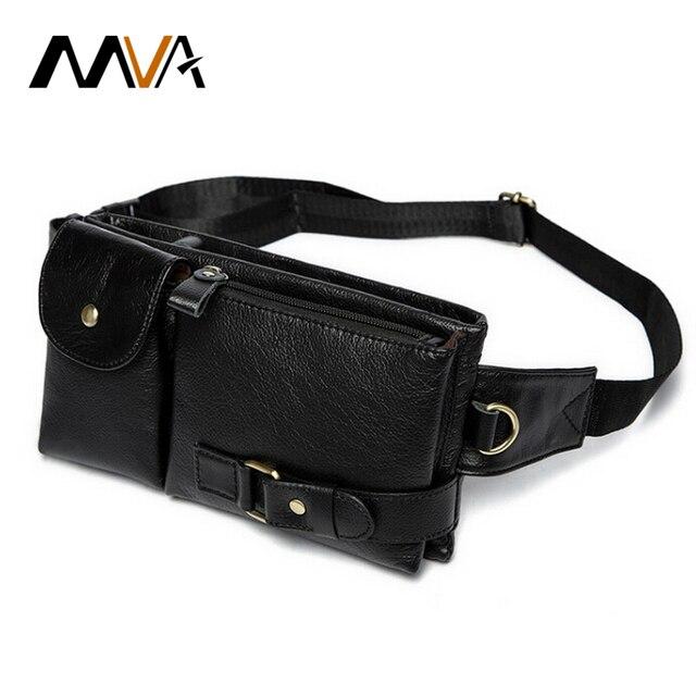Packs Saco Da Cintura Dos Homens Packs de Cinto na moda Do Vintage Saco de Homem Genuíno couro do Couro Saco De Couro Pequenos Sacos de Cintura para o Sexo Masculino Venda Quente