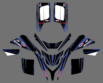 0042 New Style DECALS STICKERS GRAPHICS For  BLASTER YFS 200 1988 -2006 BLUE/BLACK yamaha blaster 1999 graphics