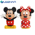 LEIZHAN USB Flash Drive de la Historieta de Mickey y Minnie 4 gb 8 gb 16 gb 32 gb pen drive tarjeta de memoria PenDrive usb flash stick de Memoria 64 gb USB