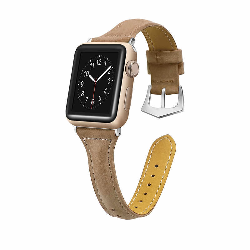 ASHEI スリム革時計バンド時計バンド 44 ミリメートル 40 ミリメートル 42 ミリメートル 38 ミリメートル Applewatch セリエ 4 ストラップため iWatch シリーズ 4/3/2