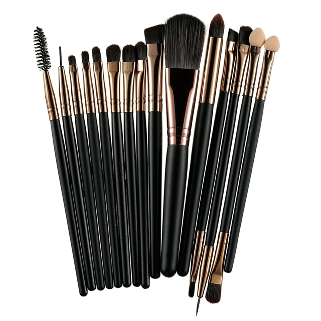 ROSALIND makeup brushes 15Pcs/Set Foundation Blending Powder Eyeshadow Contour Synthetic Cosmetic brush cleaner Beauty Make Up