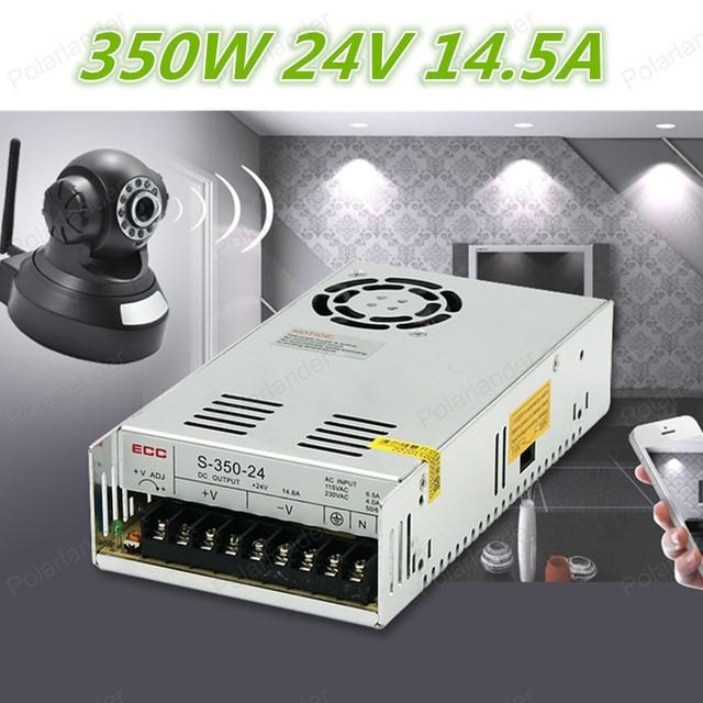 Envío libre (S-350-24) 350 W 24 V $ NUMBER A de salida única Fuente De alimentación Conmutada para la Tira LLEVADA luz