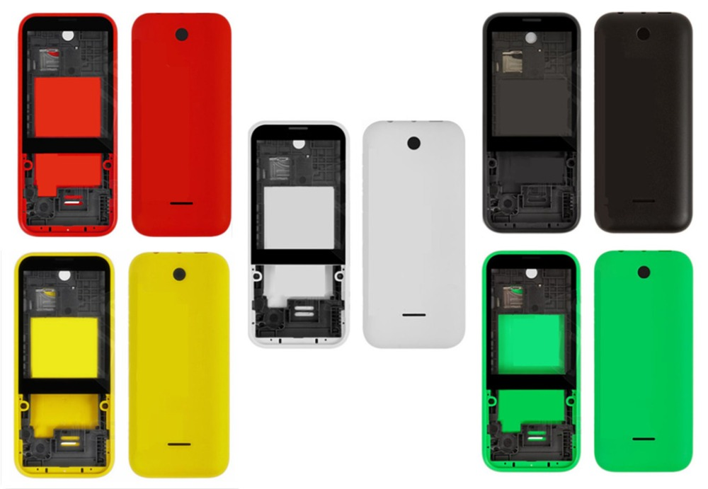 Housing For Nokia 225 Dual Sim RM-1011 N225 Middle Front Frame Bezel Frame Front Middle Plate Battery Back Cover