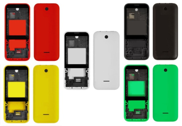 on sale db339 06b60 US $6.5 |Housing for Nokia 225 Dual Sim RM 1011 N225 Middle Front Frame  Bezel Frame Front Middle Plate Battery Back Cover-in Mobile Phone Housings  ...