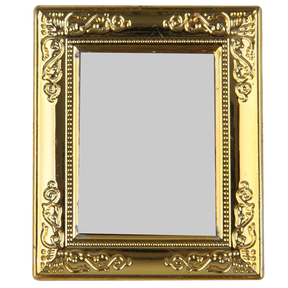 1:12 Dollhouse Miniature Furniture Living Room Table Classical Golden Mirror ~