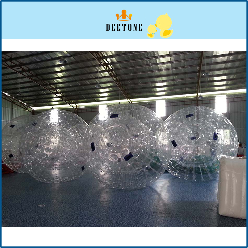DEETONE 0.8mm 2.8m TPU Summer Outdoor Bubble Football Inflatable Human Bump Socce Air Bumper Body Ball, Bubble Soccer Zorb