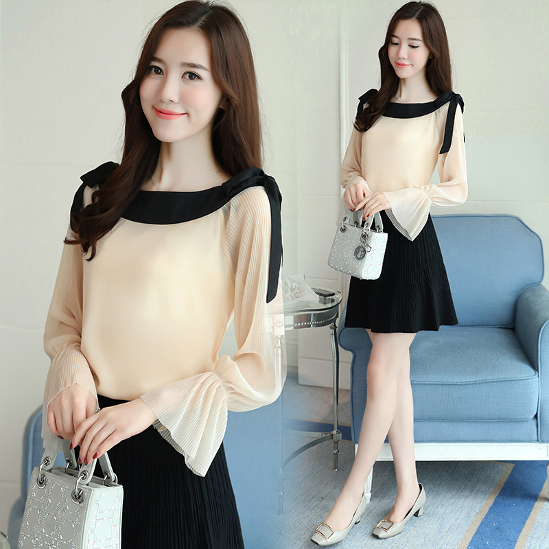 fashion slash neck white blouse long sleeve women shirt chiffon blouse shirt womens tops and blouses blusas femininas 1596 50 4