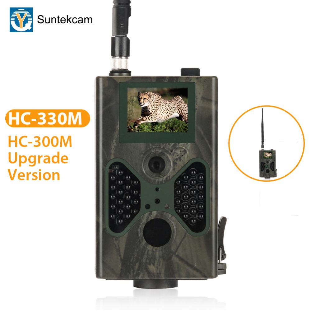 SUNTEKCAM HC-330M 16MP 940nm visión nocturna de caza de cámara MMS Cámara sendero SMS GPRS GSM 2G salvaje cámara trampa foto trampa PK HC-300M