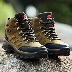 Image 5 - Bjakin 방수 남성 하이킹 신발 가을 겨울 등산 부츠 하이 탑 트레킹 사냥 신발 트레이너 고무 유니섹스