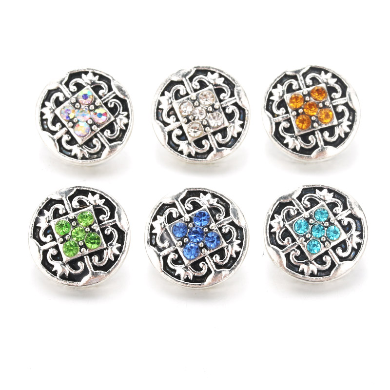 Creative 10pcs/lot Shining <font><b>Snap</b></font> <font><b>Jewelry</b></font> <font><b>12mm</b></font> <font><b>Snap</b></font> <font><b>Buttons</b></font> With Rhinestone Charm <font><b>Button</b></font> Fit <font><b>Snap</b></font> Bracelets Bangles for women image