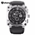 INFANTRY Aviateur Multifunction Big Dial Mens WatchTop Brand Luxury Luminous Waterproof Wristwatch Male Clock Relogio Masculino