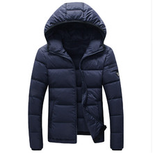 2016 Winter Men White Duck Down Jacket Men's Thick Parka Hooded Men Warm Coat Casual & Fit Outwear Man Brand Clothing