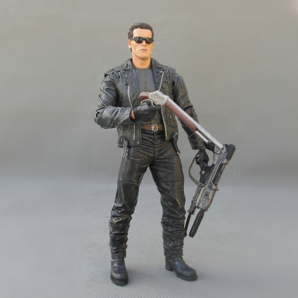 Huong Movie Figure 18 CM The Terminator 2 T-800 Battle Across Time Arnold PVC Action Figure Toy Collectibles Model цена и фото