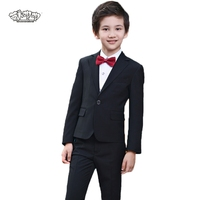 Boys Suits For Weddings Prom Party Dress For Tuexdo Children Clothing Set Flower Boys Formal Suit School Suit chorus costume N93