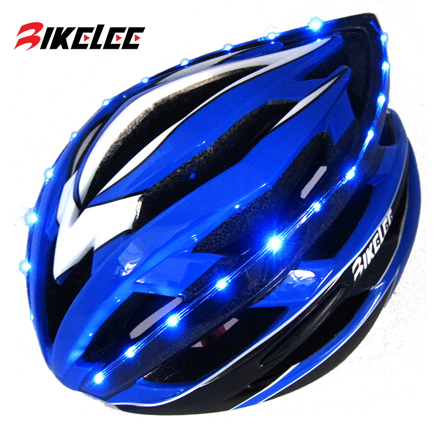 New Road Bike MTB Cycling Helmet 52-57cm With LED Light 3 Colors Helmets Bicicletas Mountain Casco Ciclismo Mujer Bisiklet Kask