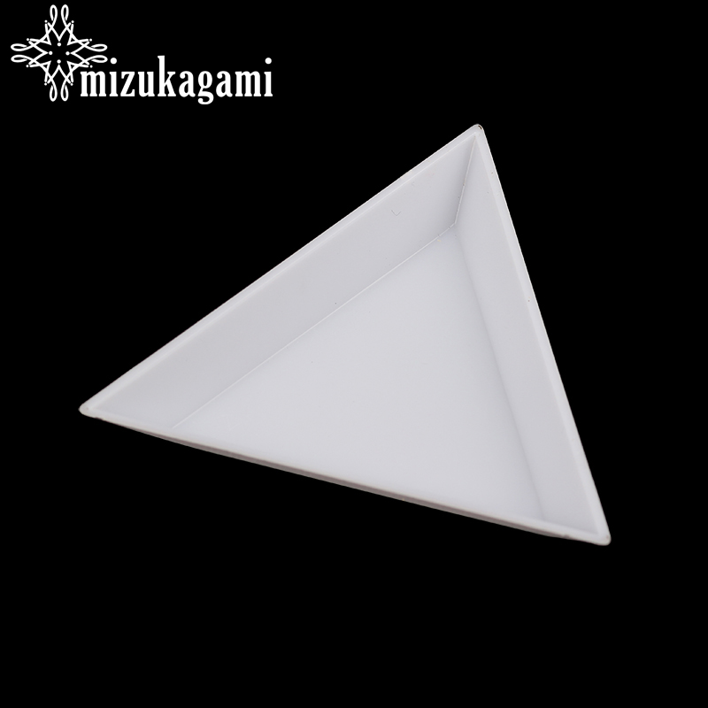 Environmental Plastic Triangle Plate White Containers For Jewelry Beads Organizer Beads Display Plastic Tray Packaging
