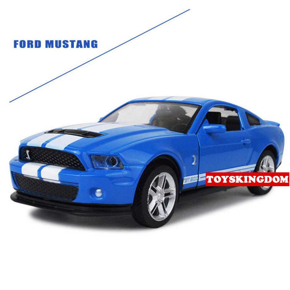 Hot 132 scale wheels fords mustang gt500 diecast sports cars metal model pull back alloy toys with light and sound collection in diecasts toy vehicles