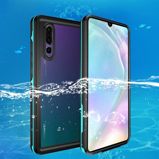 חיצוני לשחות מקרה עבור Huawei P30 פרו P30 מקרה שחייה IP68 עמיד למים מחשב + TPU הגנת כיסוי עבור Huawei P20 לייט P20 פרו קאפה
