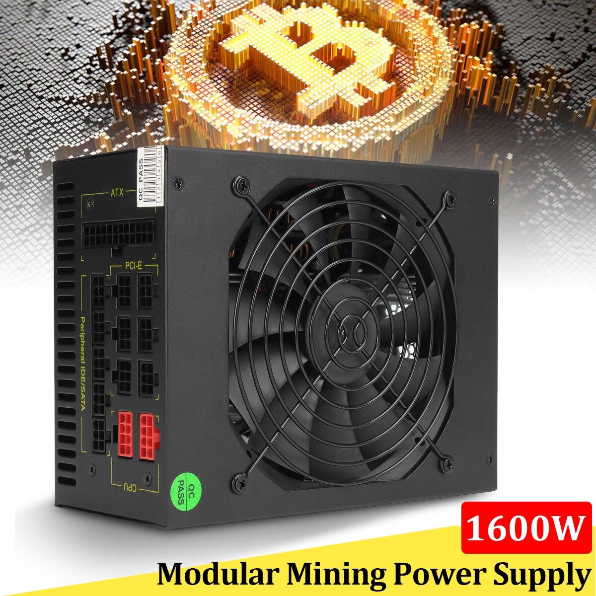 1600 w Modular fonte de Alimentação GPU Para Bitcoin Miner Mineração Rig Eth S7 S9 L3 + D3 computador de Alta Qualidade fonte de Alimentação Para BTC
