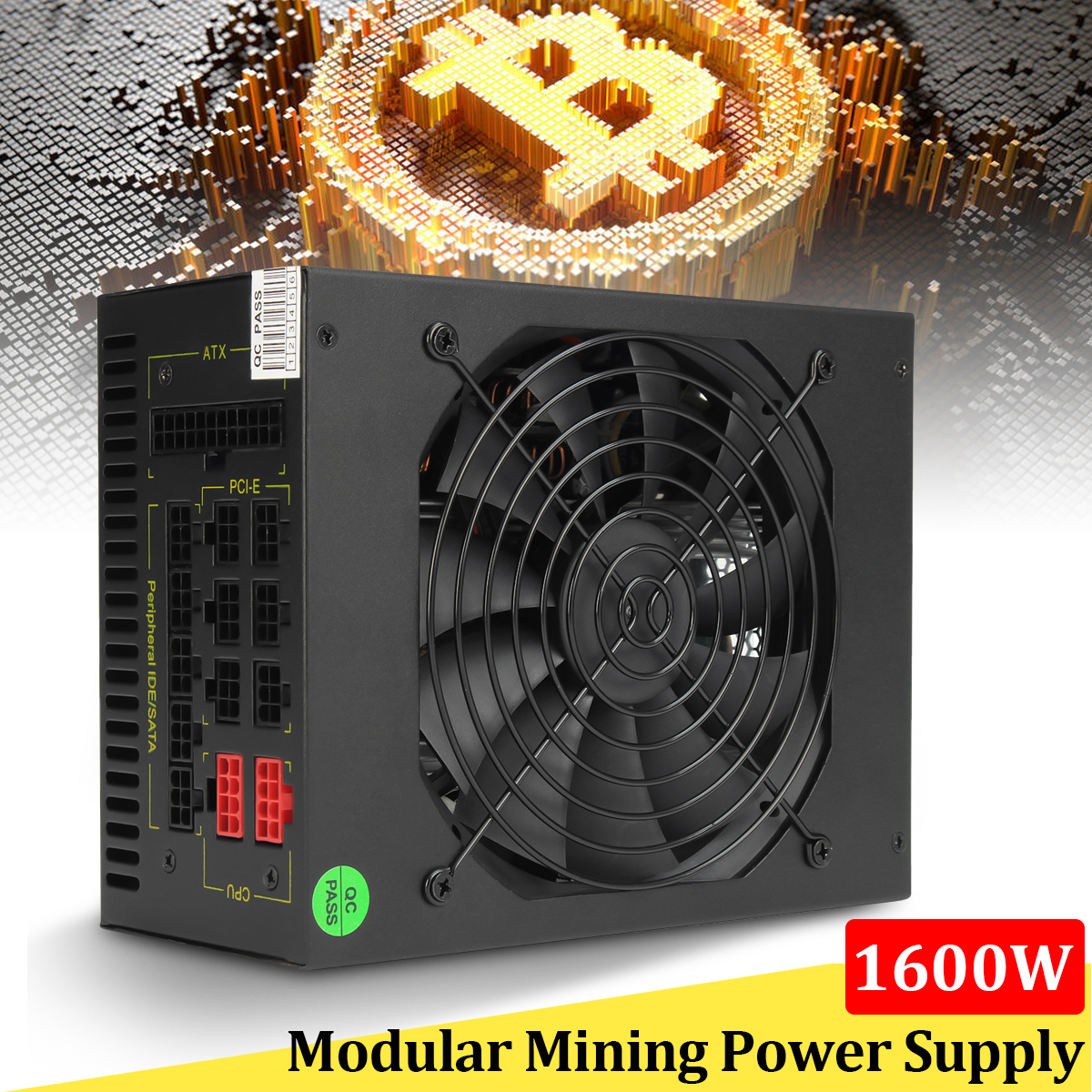 1600W Modular font b Mining b font Power Supply GPU For Bitcoin Miner Eth font b