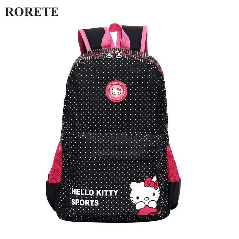 Hello Kitty Children School Bags for girl Waterproof Kids Backpacks Mochilas Primary Cartoon Backpack Kid Bag Lovely Baby Bag