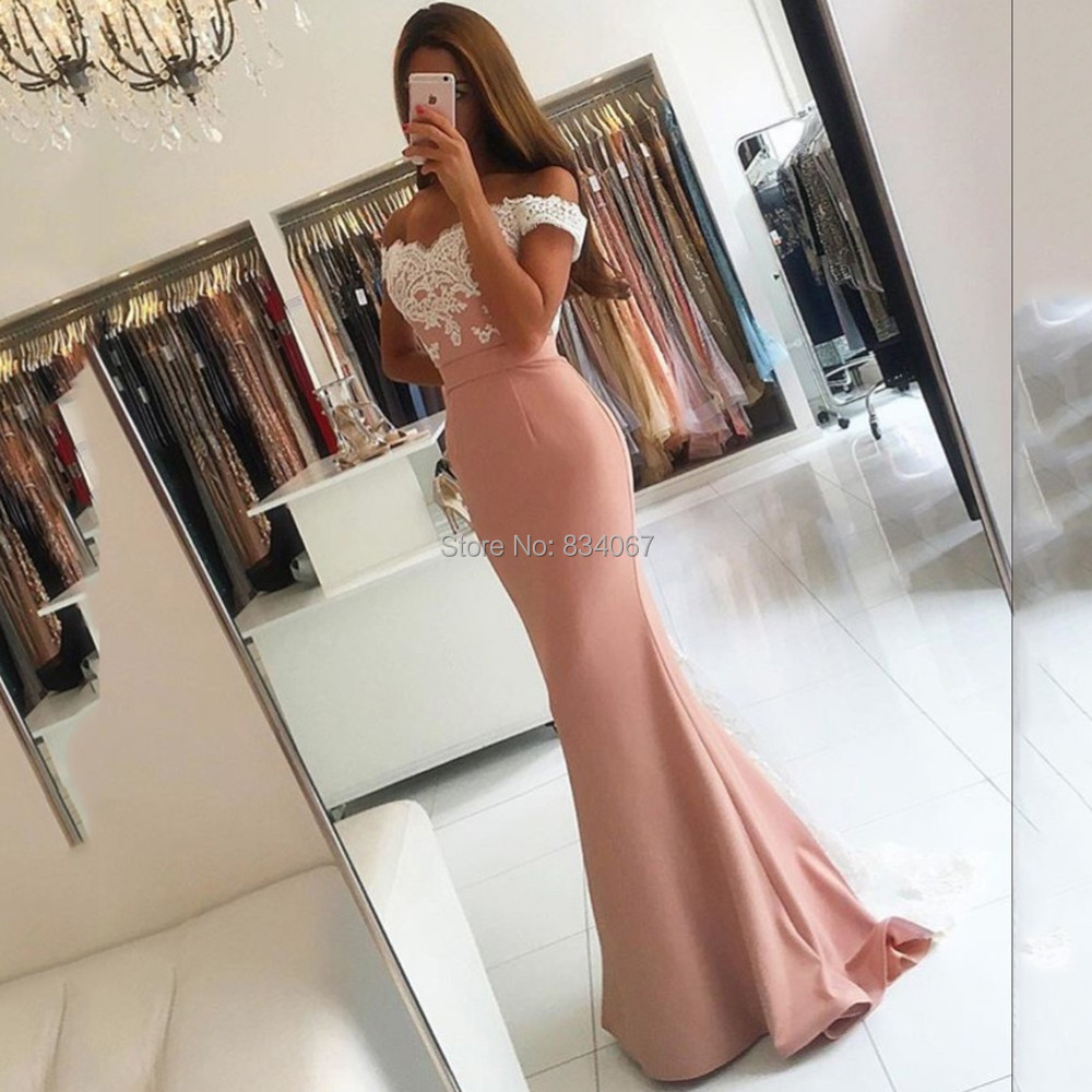 Sexy Mermaid Bridesmaid font b Dresses b font font b 2017 b font madrinha Off Shoulder