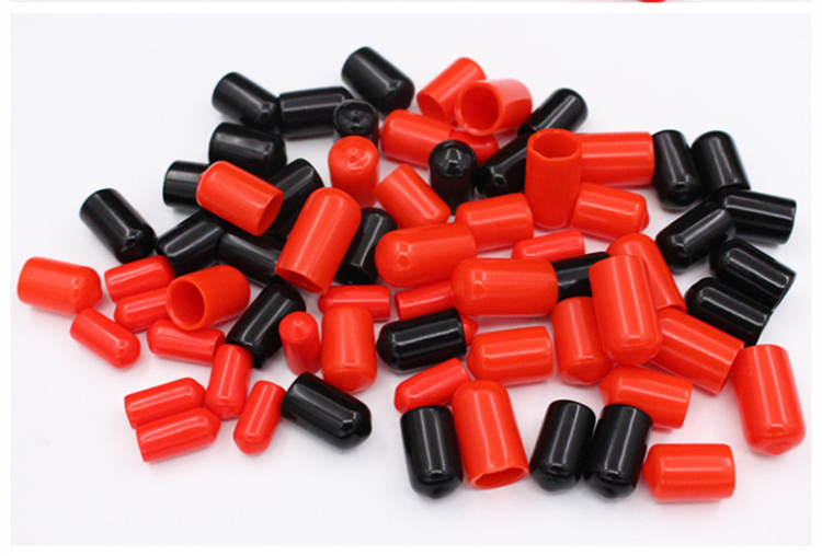 100PCS Or 300PCS 8/8.5/9/10/11/12/13/14/15/16/18/19/20/22/24mm Inner Dia PVC BoltCable Pipe Slip Cap End Cover Fitting Red Black