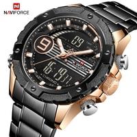 Naviforce homens moda criativa quartzo relógio de pulso à prova dwaterproof água militar do esporte relógios de negócios masculino relogio masculino|Relógios de quartzo| |  -