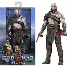 GOW Figures Doll GOD OF WAR 4 Kratos Action Figure Toy Dolls Sparta Kratos Leviathan Axe 7 inches 18cm Collection Model Toys