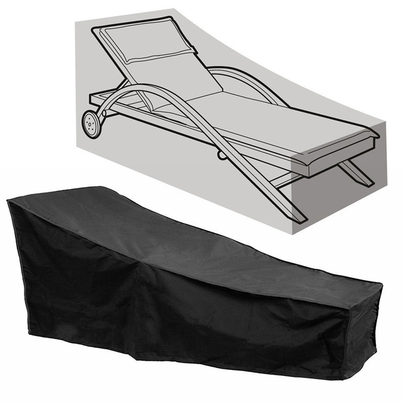 Black Polyester Lounge Chair Dust Cover Waterproof Outdoor Garden Patio Home Furniture Beach Chairs Protection Bag FV002 ...