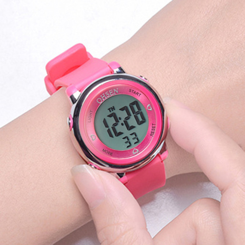 OHSEN Relogio Feminino Digital Fashion Women Men Sports Watches Waterproof reloj mujuer LED Digital Watches Running Montre Femme(China)