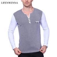Hot 2016 New Fashion Mens T Shirt Summer Menswear Stripe Undershirt Men Slim Fit Short Sleeve