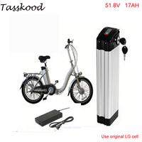No taxes 52V 17Ah E Bike battery 14S LG 18650 li ion 52V Battery pack for Electric Bicycle 48V 1000W 1200W 750w Motor