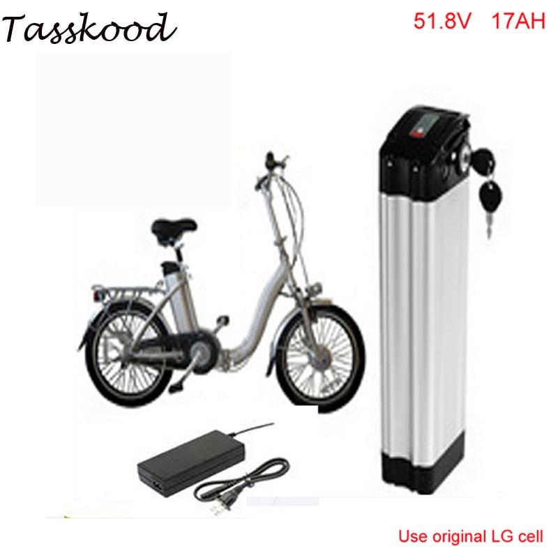 Pas de taxes 52V 17Ah batterie e-bike 14S LG 18650 li-ion 52V batterie pour vélo électrique 48V 1000W 1200W 750w moteur