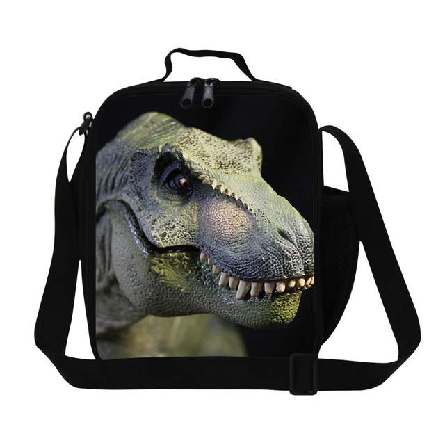 2702a99694cb Dispalang Design Dinosaur 3D Print Lunch Bag For Boys Personalized Insulated  Lunch Box For Kids Mini Food Container For Working